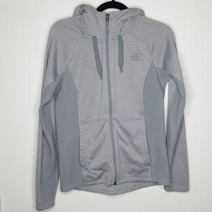 North Face Gray Fleece Zip-Up Hoodie Size Medium